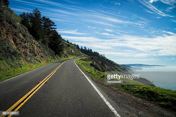 usa, california, coast at highway 1 - pacific ocean stock photos and pictures