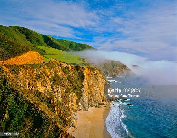california  coast shoreline big sur with rocky cliffs - monterrey stock pictures, royalty-free photos & images