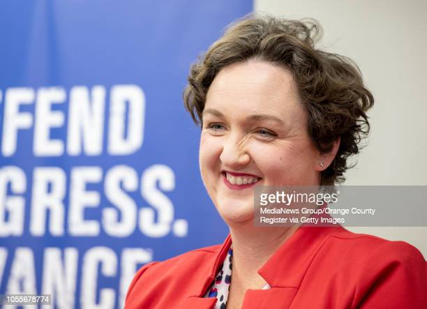 California Congressional Candidate Katie Porter at a Human Rights Campaign volunteer phone banking kickoff in Tustin on Monday October 15 2018