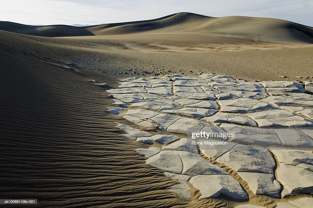 USA, California, Death Valley, dry mud in desert : Stockfoto