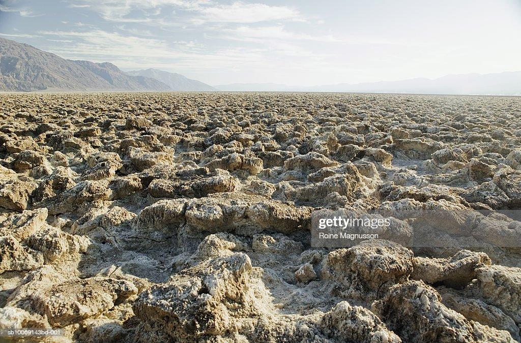 USA, California, Death Valley, salt flat : Stockfoto