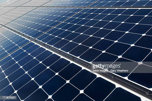 usa, california, death valley, solar panels on desert - solar panels stock photos and pictures