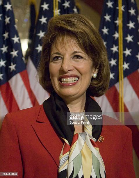 California Democrat Jackie Speier during a mock swearing in with Speaker Nancy Pelosi Speier took her seat in the House Thursday nearly three decades...