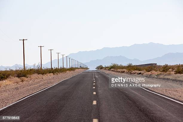 california desert road - heat haze stock pictures, royalty-free photos & images