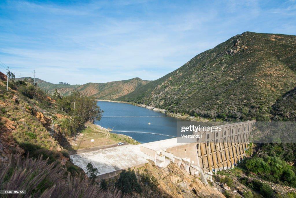 USA, California, Escondido, Lake Hodges Dam : Stock Photo