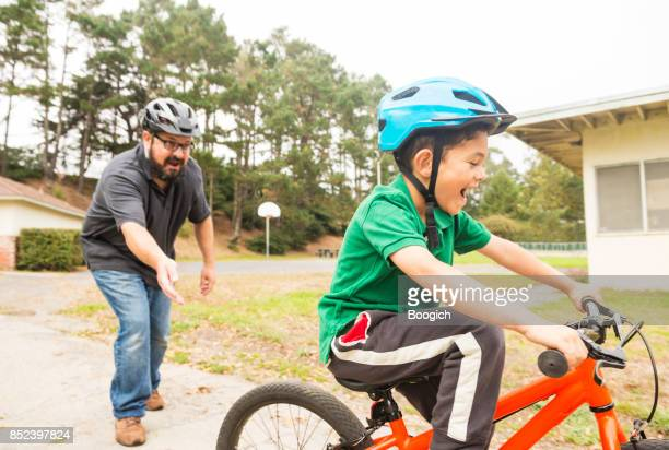 Kalifornien Vater Lehre Sohn wie Fahrrad fahren