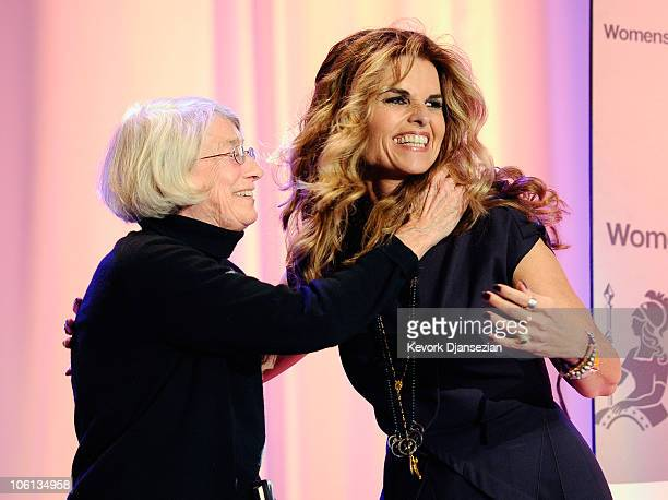 California first lady Maria Shriver introduces Pulitzer Prize and National Book Award winning poet Mary Oliver during her annual Women's Conference...