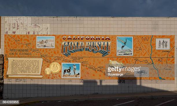 California Gold Rush mural Barstow California