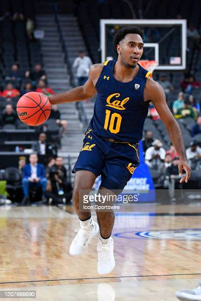 California Golden Bears guard Kareem South looks to attack the basket during the first round game of the men's Pac12 Tournament between the Stanford...