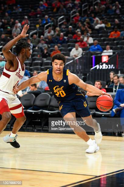 California Golden Bears guard Matt Bradley drives to the basket during the first round game of the men's Pac-12 Tournament between the Stanford...