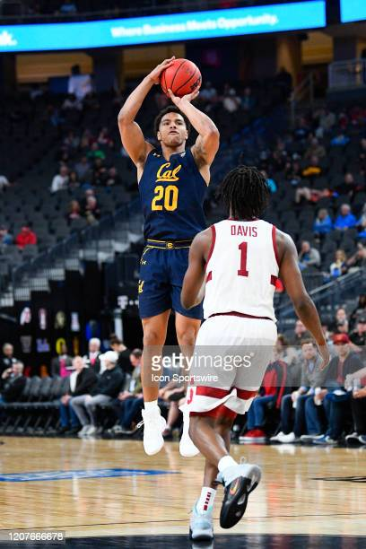 California Golden Bears guard Matt Bradley shoots a three pointer during the first round game of the men's Pac-12 Tournament between the Stanford...
