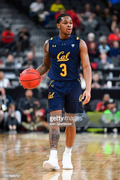 California Golden Bears guard Paris Austin brings the ball up the court during the first round game of the men's Pac-12 Tournament between the...