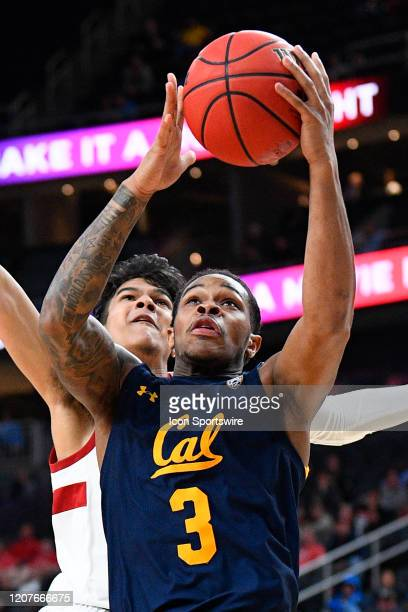 California Golden Bears guard Paris Austin drives to the basket during the first round game of the men's Pac-12 Tournament between the Stanford...