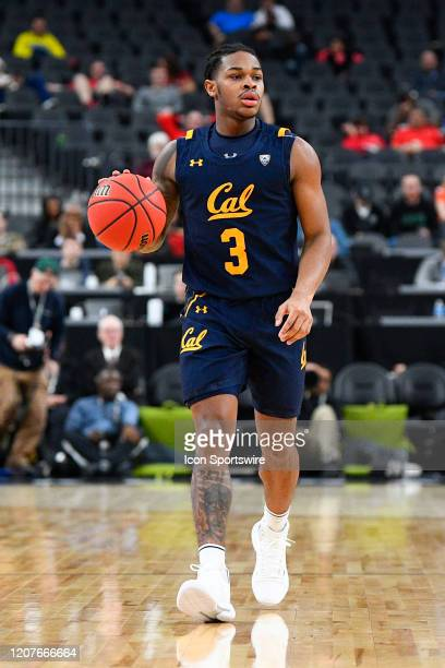 California Golden Bears guard Paris Austin sets up the offense during the first round game of the men's Pac-12 Tournament between the Stanford...