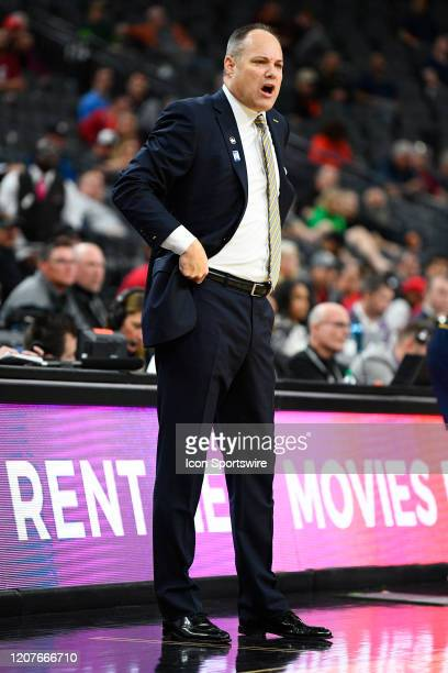 California Golden Bears head coach Mark Fox looks on during the first round game of the men's Pac-12 Tournament between the Stanford Cardinal and the...
