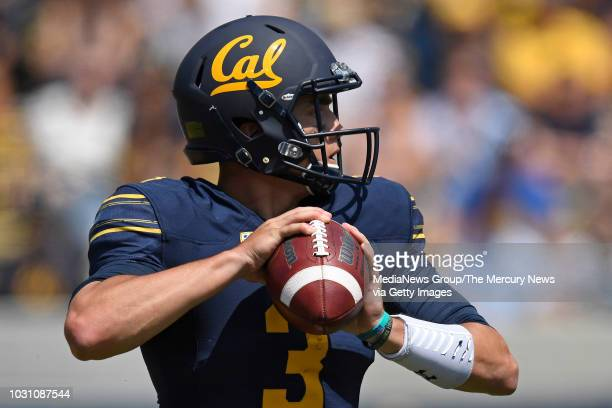 California Golden Bears quarterback Ross Bowers looks to pass against the North Carolina Tar Heels during the first quarter of their game at Memorial...