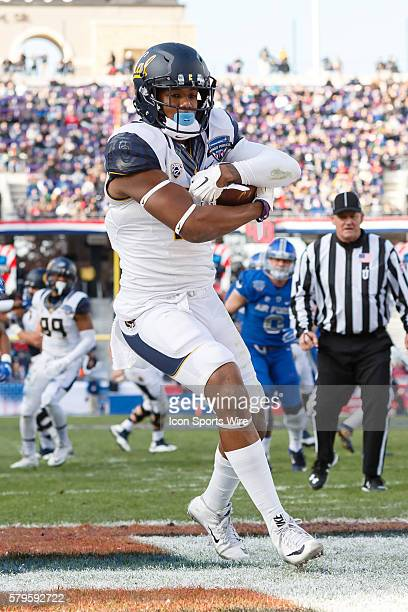 California Golden Bears wide receiver Darius Powe catches a touchdown pass during the Lockheed Martin Armed Forces Bowl between the California Golden...