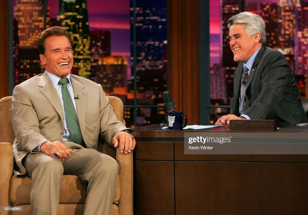 Governor Arnold Schwarzenegger Appears On The Tonight Show With Jay Leno
