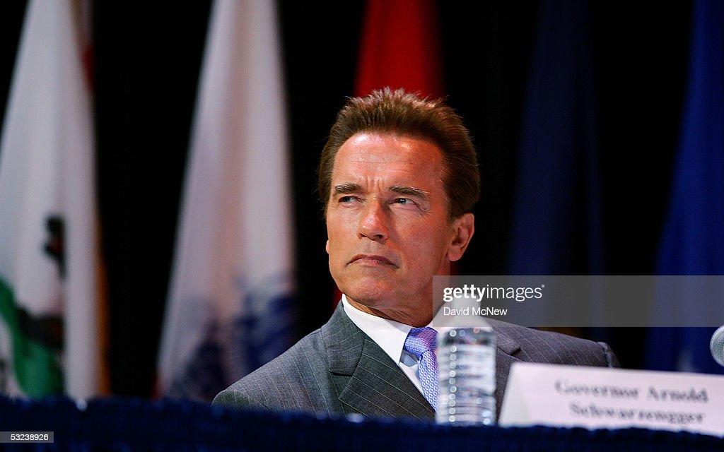 Governor Schwarzenegger Testifies Before BRAC Commission : News Photo