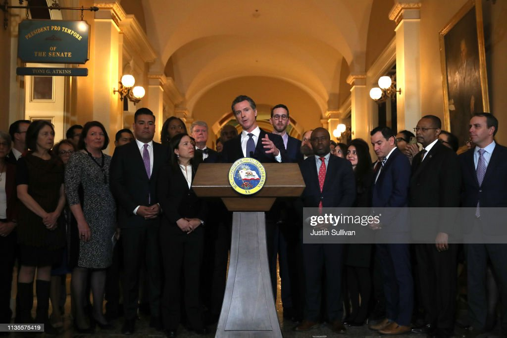 Governor Gavin Newsom Announces He Will Sign Moratorium On Executions In California : News Photo