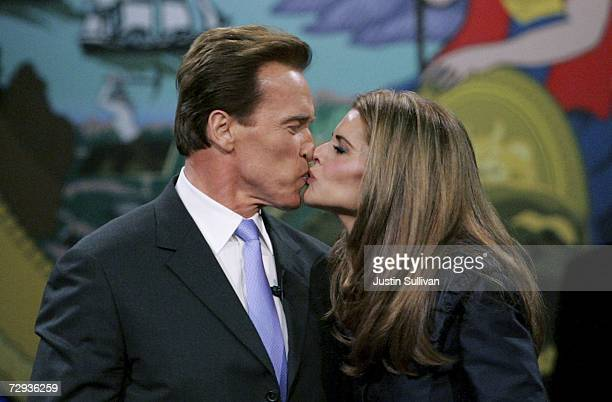 California governor Arnold Schwarzenegger kisses his wife Maria Shriver after being sworn in for a second term as governor of California January 5,...