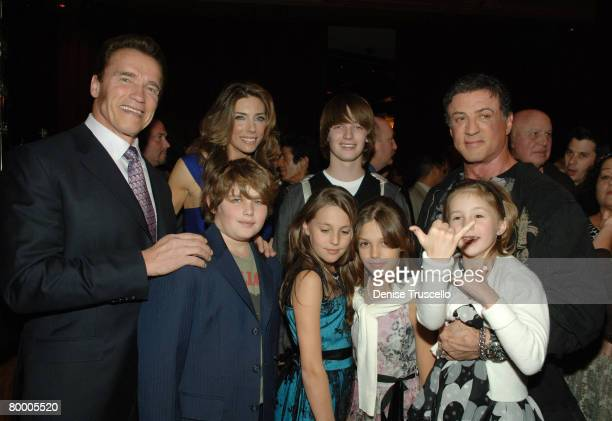 California governor Arnold Schwarzenegger model Jennifer Flavin Christopher Schwarzenegger Patrick Schwarzenegger Sophia Stallone Sistine Stallone...