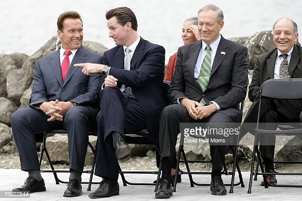 California Governor Arnold Schwarzenegger San Francisco Mayor Gavin Newsom California Assembly member Fran Pavley New York Governor George Pataki and...