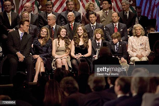 California Governor Arnold Schwarzenegger, wife Maria Shriver, daugthers Katherine 17, Christina 15, and sons Patrick Christopher, 9 and Eunice...