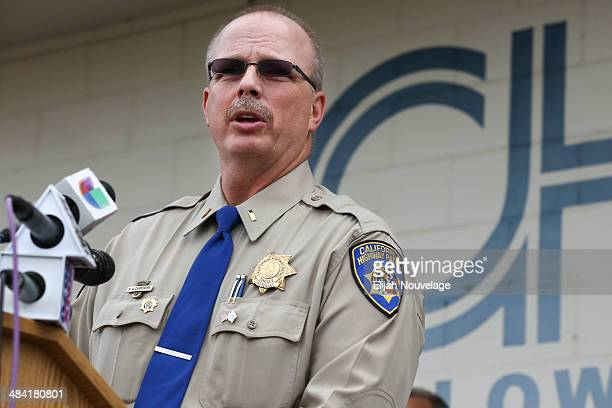 California Highway Patrol Lt Commander Bruce Carpenter speaks at a press conference on April 11 2014 in Willows California Ten people were killed and...