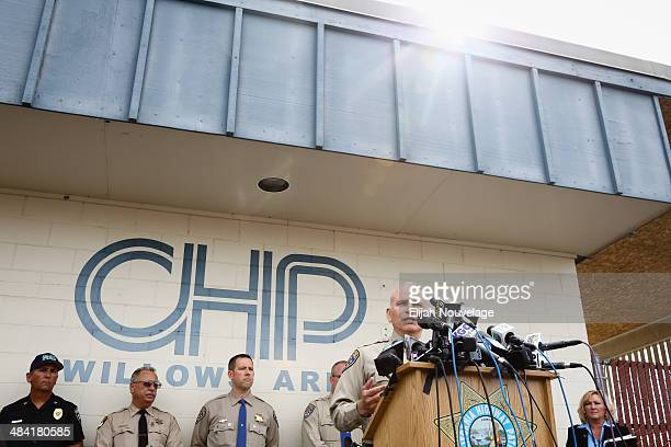California Highway Patrol Northern Division Chief Ruben Leal speaks at a press conference on April 11 2014 in Willows California Ten people were...