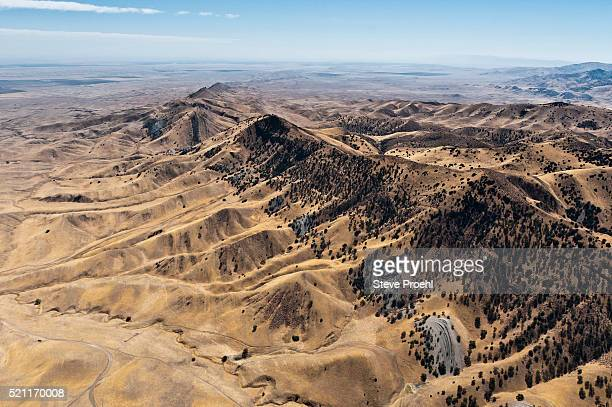 california hills near the san andreas fault west of avenal, california - san andreas fault stock pictures, royalty-free photos & images