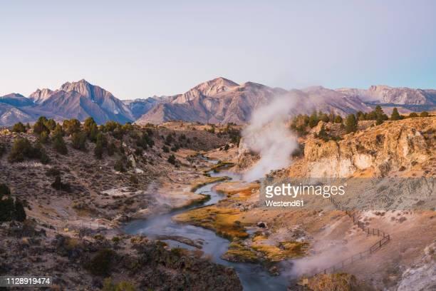USA, California, Hot creek in Mammoth Lakes