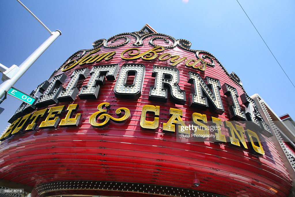 California Hotel Casino In Downtown Las Vegas Stock Photo Getty Images