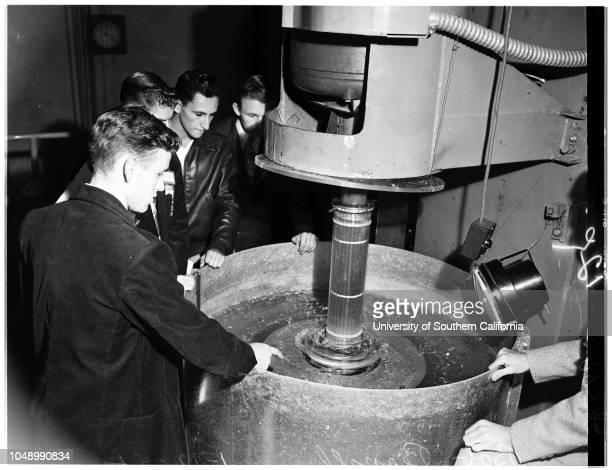 California Institute of Technology student day, 12 January 1952. Gary Alford -- 17 years;Pete Wilkes -- 17 years;Scott Davidson -- 17 years;David...