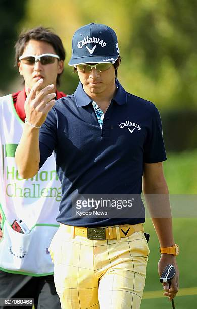 LA QUINTA California Japanese golfer Ryo Ishikawa shows frustration after missing a birdie putt on the No 3 hole in the final round of the Humana...