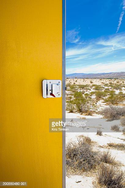 USA, California, Joshua Tree National Monument, open door and desert