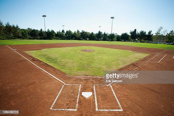 USA, California, Ladera Ranch, baseball diamond