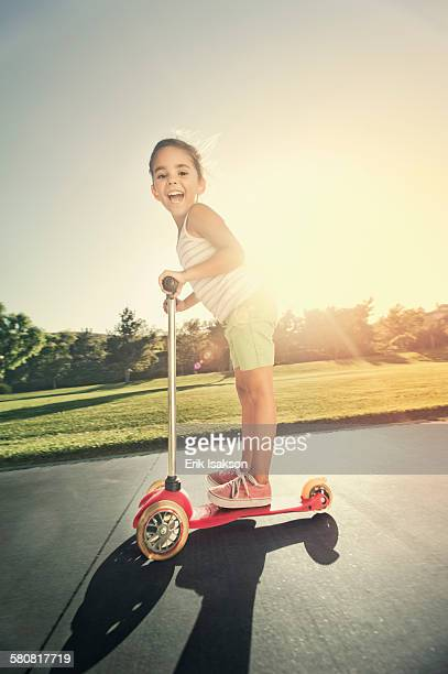 USA, California, Ladera Ranch, Girl (6-7) playing in park