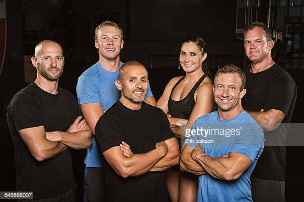 USA, California, Ladera Ranch, Group portrait of personal trainers