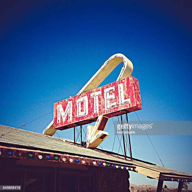 USA, California, Lake Los Angeles, Motel Sign