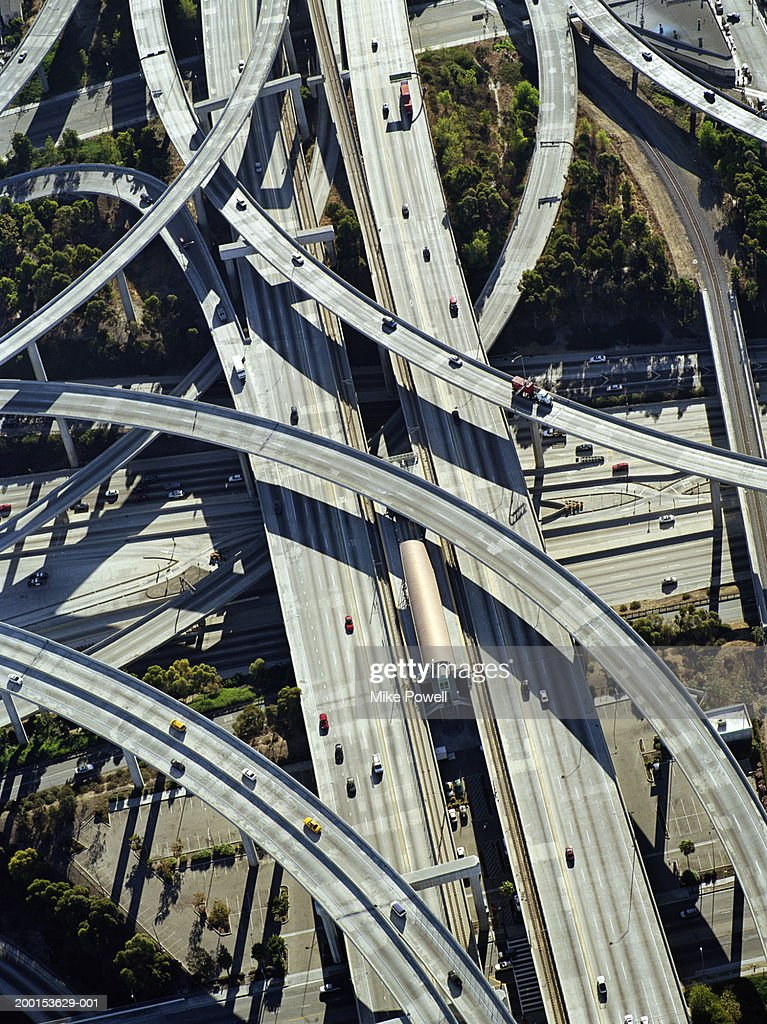 Usa California Los Angeles Aerial View Of 405 And 105