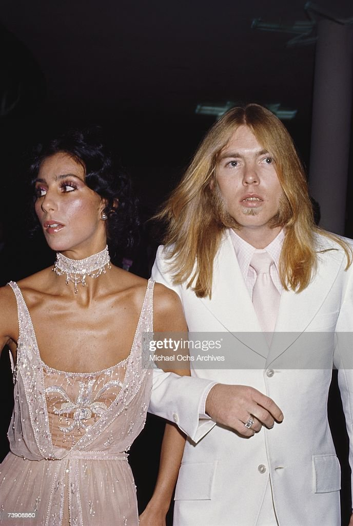 1978, Los Angeles, Cher with Gregg Allman : News Photo