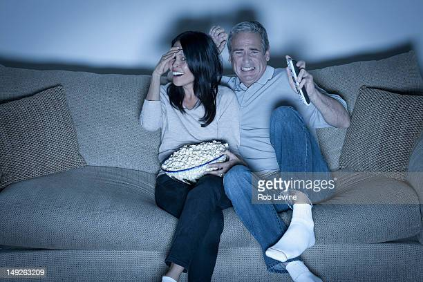 USA, California, Los Angeles, Couple watching television