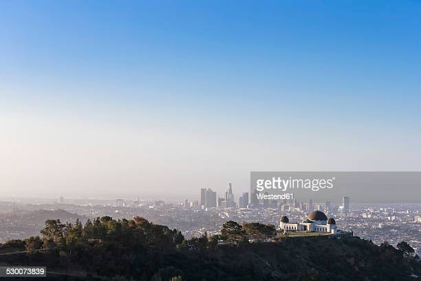 USA, California, Los Angeles, Griffith Observatory and Skyline