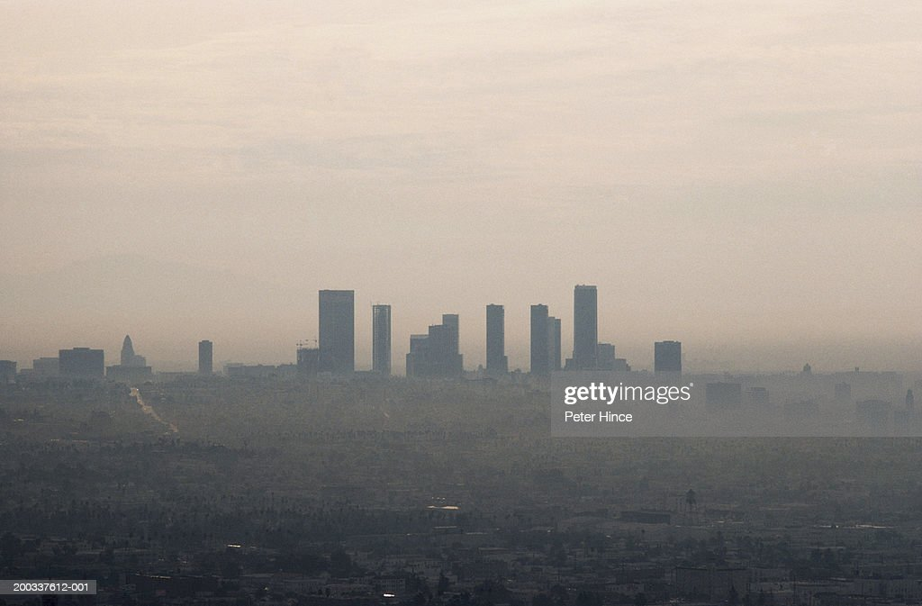 Usa california los angeles haze over cityscape stock photo getty usa california los angeles haze over cityscape stock photo sciox Gallery
