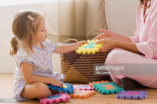 USA, California, Los Angeles, Mother playing with daughter