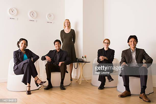 usa, california, los angeles, portrait of business people - 5人 ストックフォトと画像