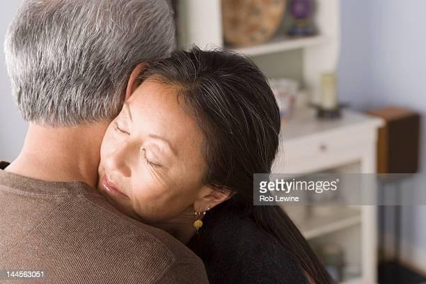 USA, California, Los Angeles, Portrait of couple embracing
