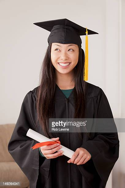 USA, California, Los Angeles, Portrait of graduated young woman