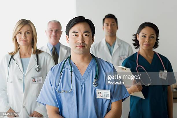 USA, California,  Los Angeles, Portrait of hospital workers